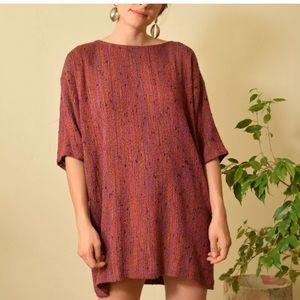 Vintage Dresses - Vintage raw silk textured dress